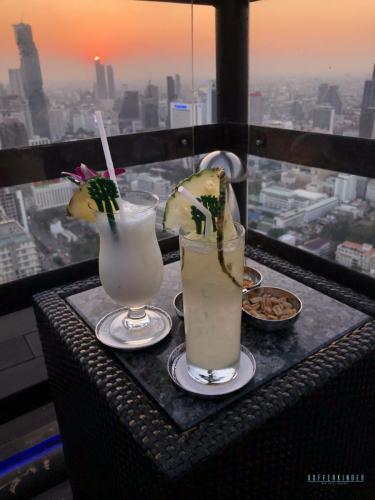 Sonnenuntergang Banyan Tree Hotel Vertigo Bar