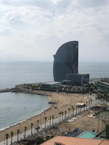 W Hotel am Strand von Barcelona